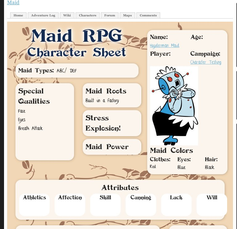 Sweet DST for Maid RPG