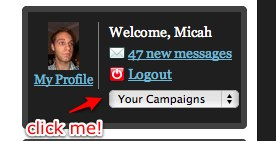 Jump to campaigns instantly