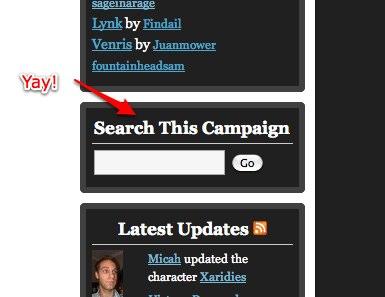 Campaign Search