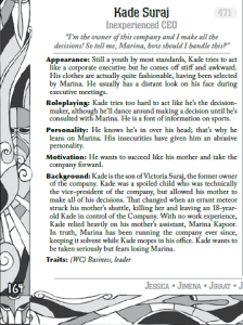 An example from MASKS / Courtesy of Engine Publishing